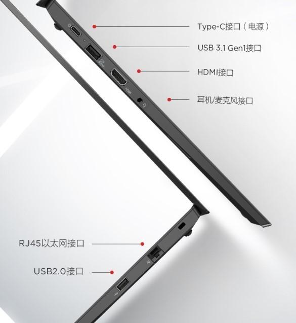 联想ThinkPad E14锐龙版侧面