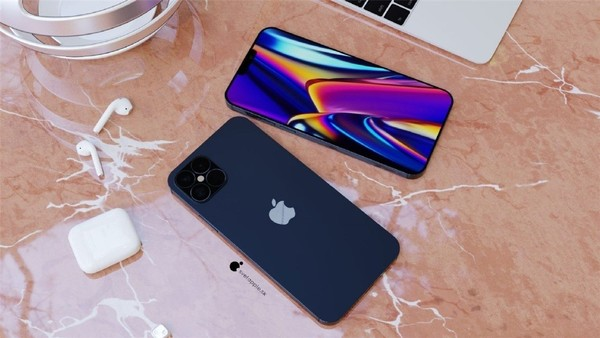 iPhone 12 Pro海军蓝配色渲染图来了 这颜值你中意吗?