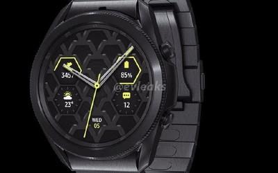 三星Galaxy Watch3钛金属版曝光:金属风格猛男必备