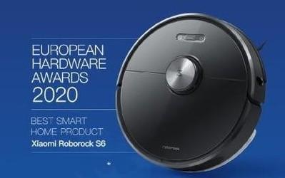 石头扫地机器人T6获欧洲2020硬件评选最佳智能家居奖
