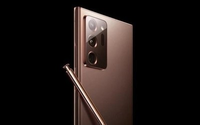 三星Note20 Ultra古铜色正面渲染图曝光 屏占比惊人