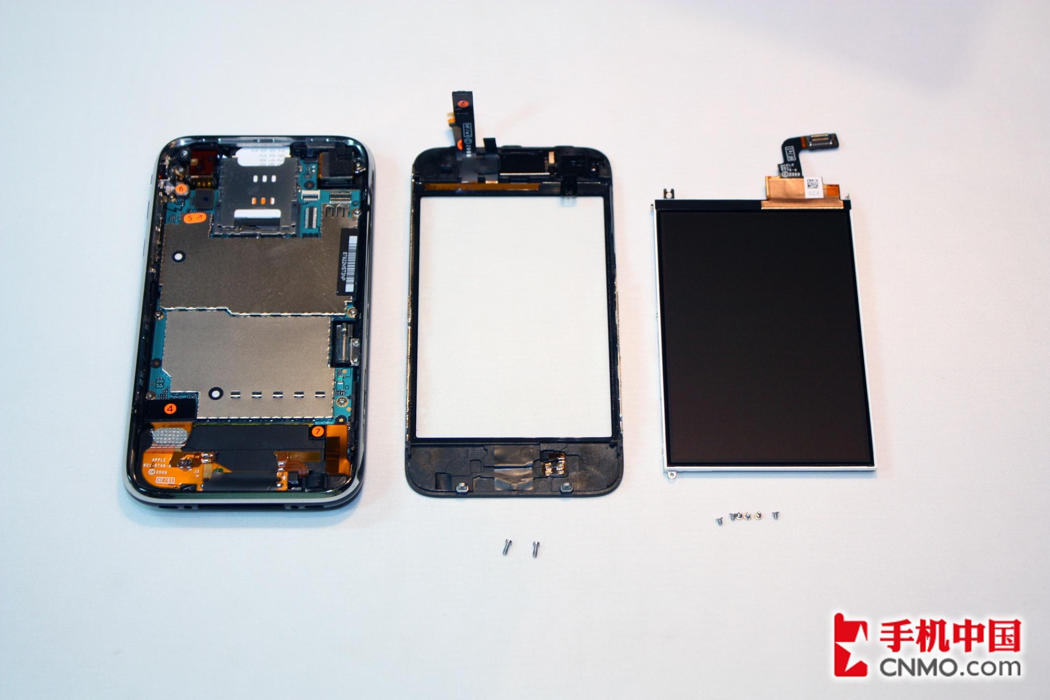 苹果iphone 3gs完全拆机图解-手机图片
