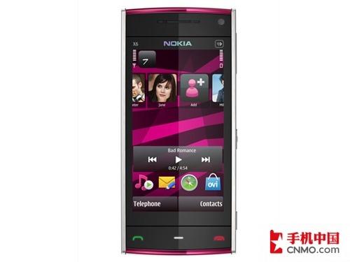 降低容量新添色彩 诺基亚X6 16GB发布