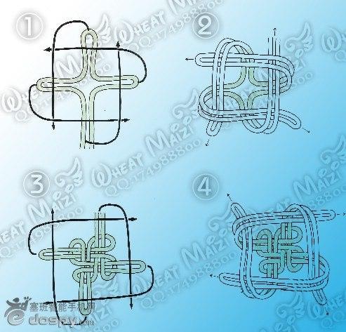 中国结和灯笼的简笔画步骤图解