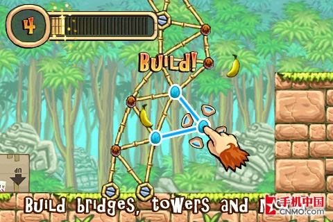 iphone海岛冒险游戏 tiki towers体验