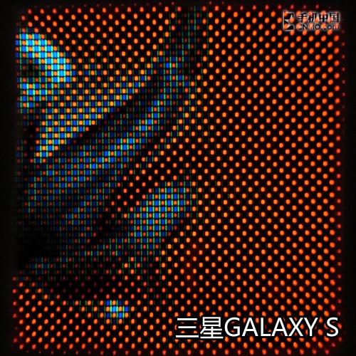 微观三星GALAXY S屏幕