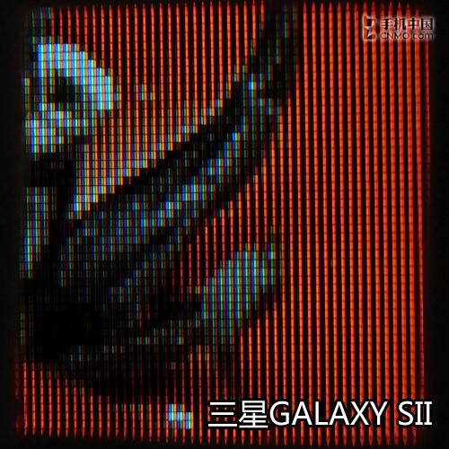 微观三星GALAXY SII屏幕