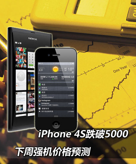 iPhone 4S跌破5000 下周强机价格预测