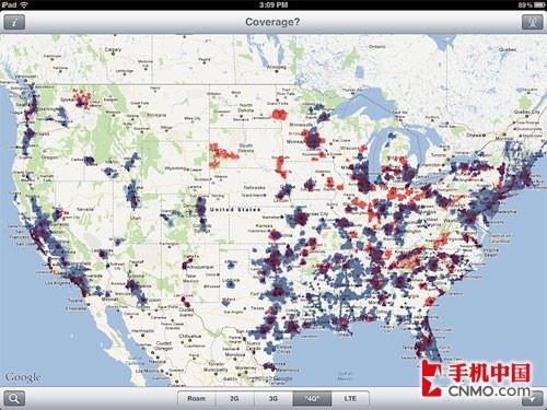 美国4g网络分布区