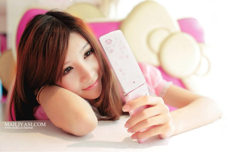 恋上粉红色少女情怀Hello+Kitty花之语 风