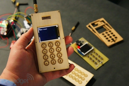 diy自制木头外壳手机图