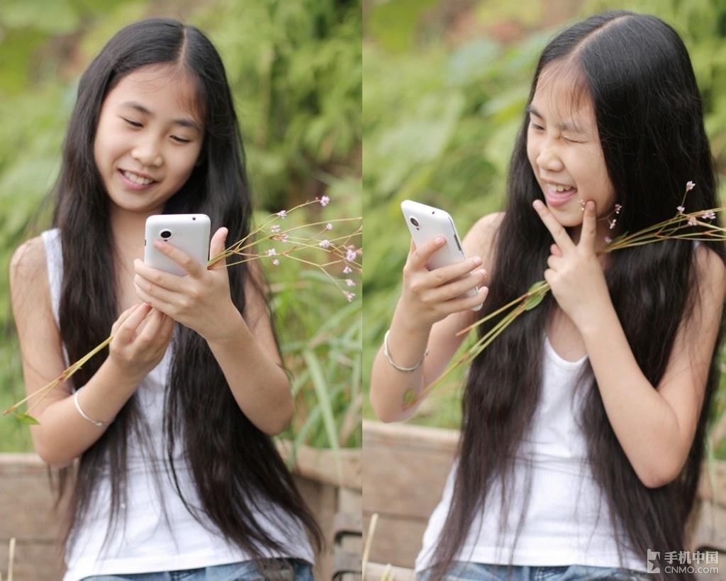 可爱小萝莉 田野间vivo s9的美好童真_手机中国