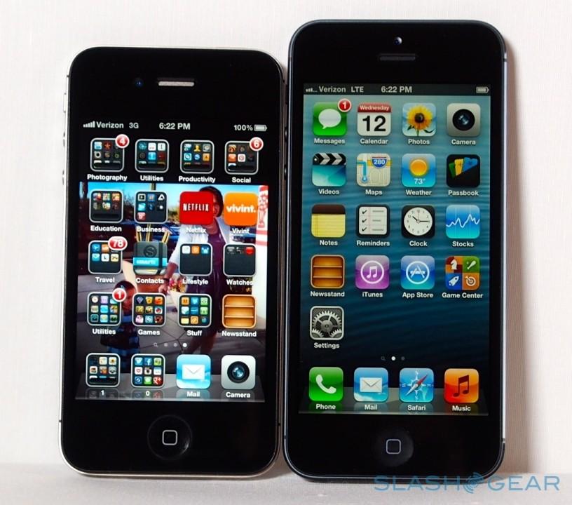 苹果iphone 5与iphone