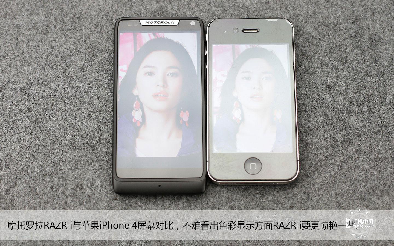 强光照:与iphone 4屏幕对比