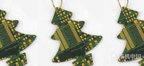 自己diy 废旧手机电路板制作圣诞树