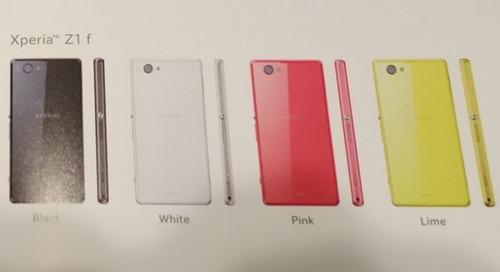 劍指iPhone 5s 索尼Xperia Z1 f即將發布