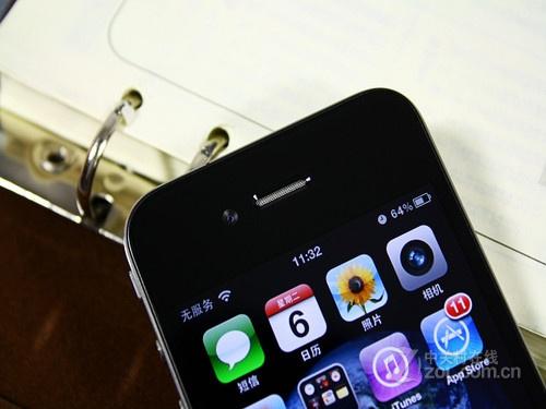 苹果iphone 4 黑色 前置摄像头图